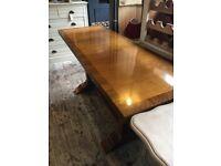 ART DECO CONSOLE TABLE SOLID HEAVY WALNUT VENEER LARGE
