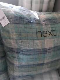 Next checked cushions