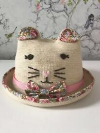Kitty cat sun hat (3-6y)