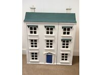 Traditional Wooden Dolls House with Accessories