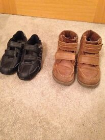 Boys trainers and boots size 1