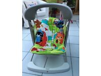 Fisher Price Woodland Friends Baby Take-Along Musical Swing & Seat Baby Rocker Bouncer