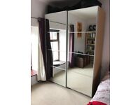 Mirrored Doors Wardrobe (Free to collector)