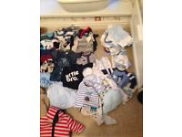 Bundle of newborn and 0-3 baby boy clothes. Immaculate condition
