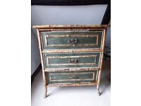 Regency faux bamboo chest of drawers (Restoration, Rustic, Antique, Vintage)