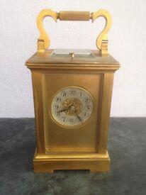 Antique Brass French Striking Carriage Clock circa 1900