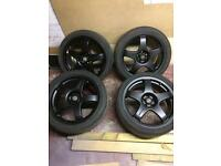 TEAM DYNAMICS PRO RACE 3 ALLOY WHEELS,17 INCH 5x100 VW GOLF/POLO SEAT/FABIA VRS
