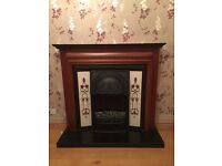 Retro vintage fireplace/ surround