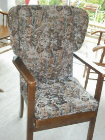 Fireside Arm Chair Wing back Vintage chic country cottage