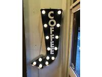 Coffee Sign Circus Light ideal for a coffee shop