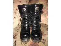 New Rock reactors Boots. Size 7
