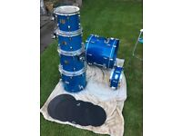 Pearl Export ELX 6-piece Drum Kit c/w Hardware, Cymbals, Cases & Practice Pads