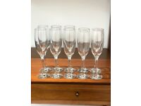10 glass champagne flutes