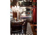 Bartender and Barbacks At Stunning London Hotel
