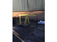 Forklift engine crane