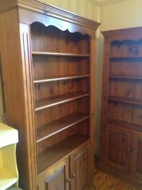 2 Large Solid Pine Bookcases @ £150 each