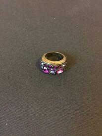 Purple gem oversized ring