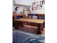 Block Legged Table