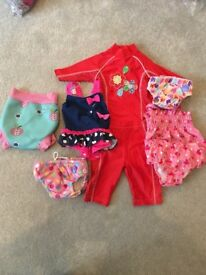 Selection of baby girls swimwear - bought individually