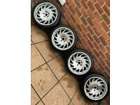 "5x112 18"" Vossen VLE-1 Replica Alloys Wheels Vw Golf gti Caddy Scirocco Audi A3 A4 TT Seat Skoda Vag"