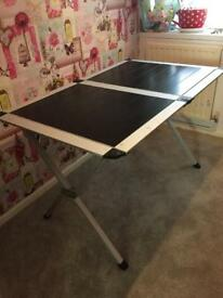 Camping table, double size, folding.