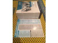 Kaplan Schweser CFA Level 2 books (incl. practice exams and quick sheet)