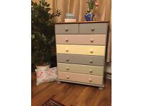 ❤️ 2sets of 7 drawer chests both in different pastels