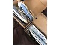 Converse size 10 light blue and demin blue