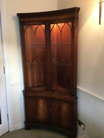 Mahogany Display cabinet, excellent condition