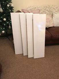 Floating shelves 4 x white