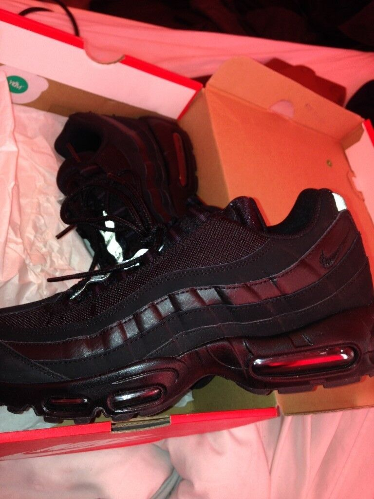 5be6718c50 BRAND NEW IN BOX Nike Air Max 95 Black Black Anthracite Size 8.5 ...