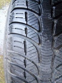 Winter tyres, pair, nearly new 185/60R14