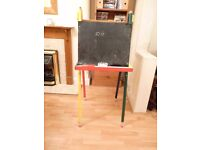 Children's Easel with Blackboard and Whiteboard