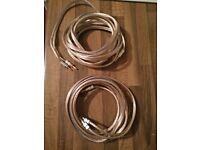 2x 5 metres HI-FI Speakers cables
