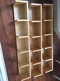Ikea beech dvd cd shelves