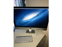 iMac 27-inch, Late 2012 - 3.4Ghz i7, 8Gb RAM, 2Gb GFX, 1Tb HDD - Wireless mouse + keyboard