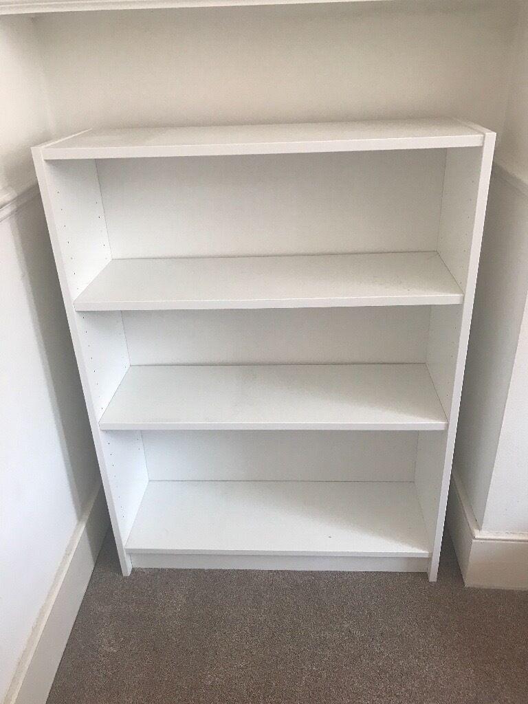 White Ikea Billy Bookshelf