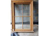 Sash window solid wood frame glazed