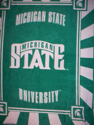 University Fleece Fabric Panel - MICHIGAN STATE UNIVERSITY MSU FLEECE FABRIC PANEL OOP