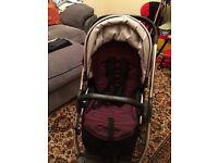 Oyster carrycot and pushchair