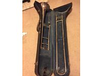 Besson Academy 402 plated trombone with case