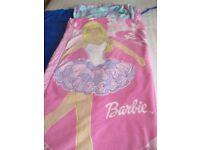 Children's Barbie Blow up Bed & Sleeping Bag in one - £10.00