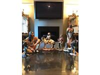 Large red indian statues