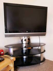 """LG 42"""" LCD TV with glass unit"""