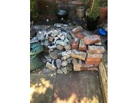 Bricks and rubble. Free to collect