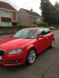 Audi A3 3dr sport (2012) red