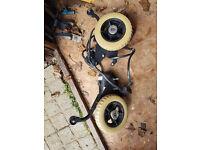 invacare 2x wheel chair motors