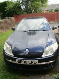 2008 RENAULT LAGUNA DYNAMIQUE 2 LT DC1, 5 DOOR HATCHBACK.VERY ECONOMICAL 50MPG