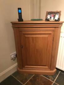Pine corner unit/cupboard
