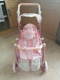 Baby Annabell double lamb pram pushchair buggy zaps creation rare